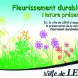 Panneau «Fleurissement durable» de Lens
