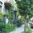 Rue végétalisée à Montréal