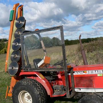 Tracteur et fauche