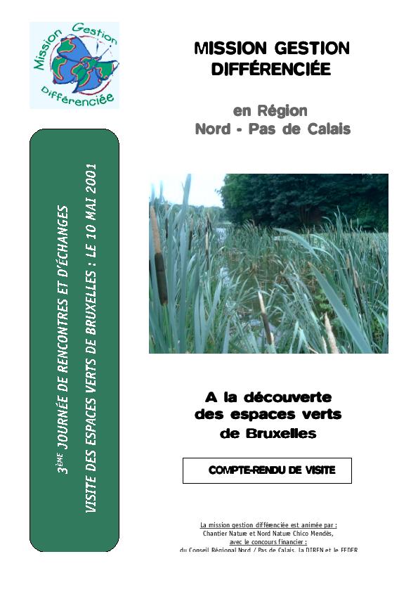 A la d couverte des espaces verts de bruxelles gestion for Les espaces verts pdf